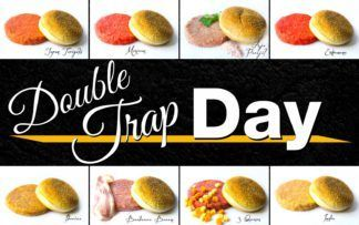 Double trap day burgers