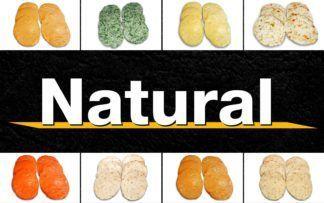 Natural fit burgers